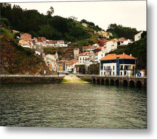 Little Houses To The Sea End Metal Print by Jenny Senra Pampin