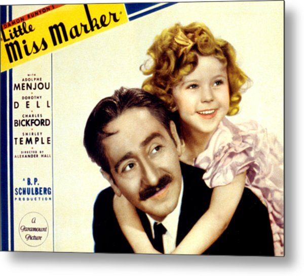 Little Miss Marker, Adolphe Menjou Metal Print by Everett