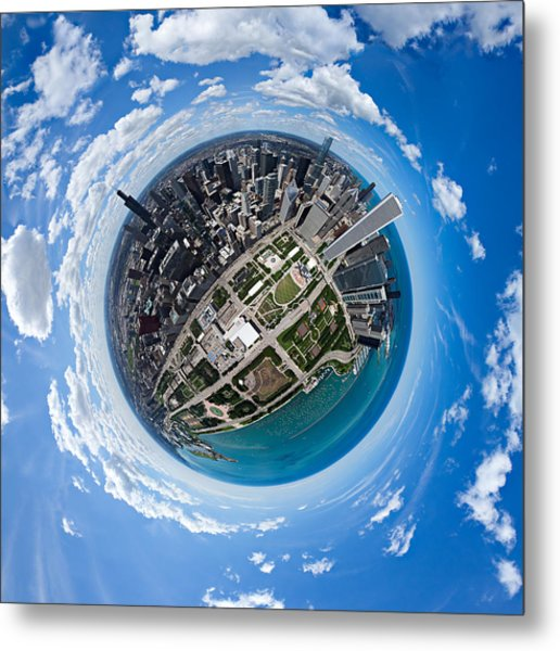 Little Planet Chicago Metal Print