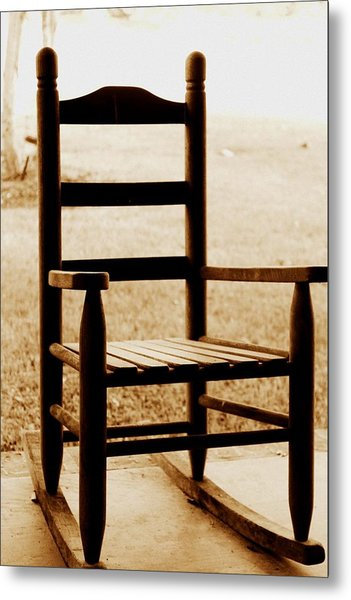 Little Rocking Chair Metal Print by Hannah Miller