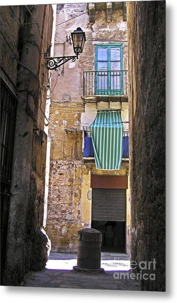 Little Street Of Palermo Metal Print