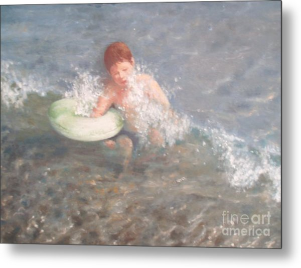 Little Swimmer Metal Print