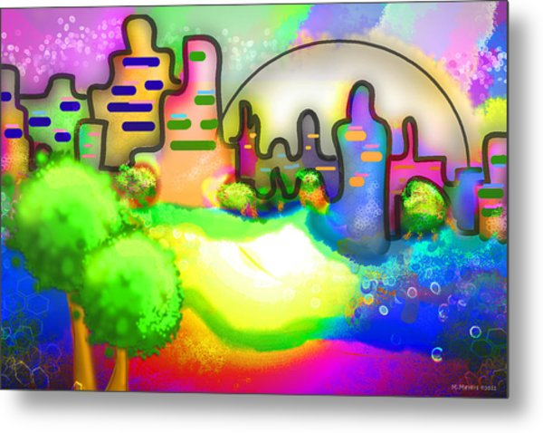 Living In Color Metal Print by Melisa Meyers