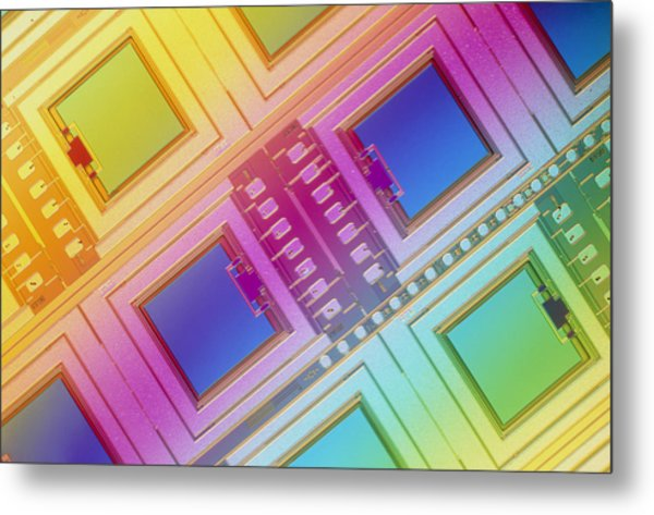 Lm Of Micromechanical Accelerometers Metal Print by Volker Steger