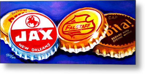 Local Beer Caps Metal Print by Terry J Marks Sr