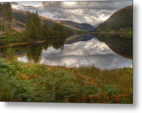 Loch Dughaill Scotland Uk Metal Print