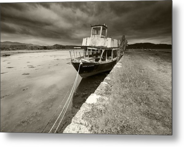 Loch Etive Jetty Old Boat Metal Print