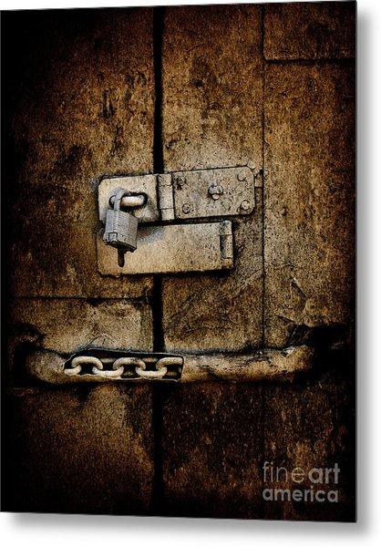 Locked Door Metal Print by Bobbi Feasel