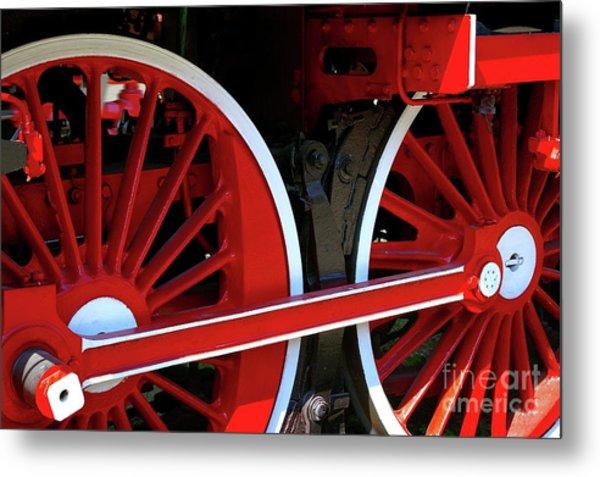 Locomotive Wheels Metal Print