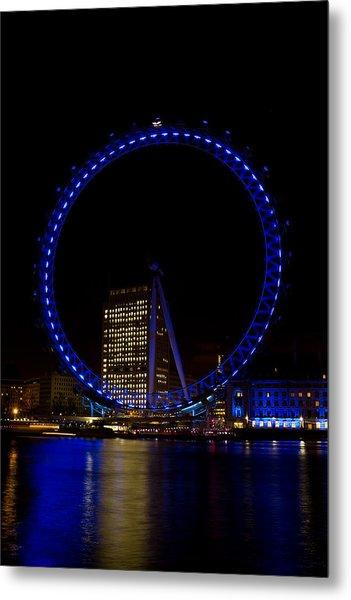 London Eye And River Thames View Metal Print
