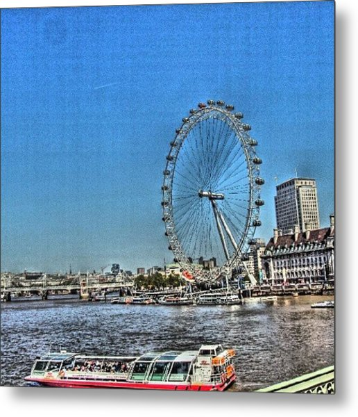 London Eye, #london #londoneye Metal Print