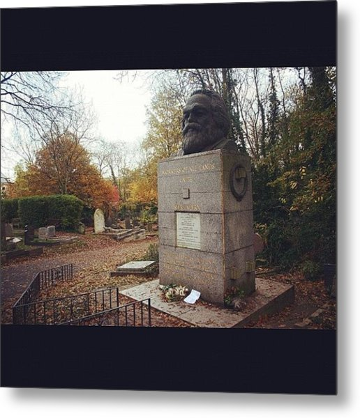 #london #karlmarx #marx #communist Metal Print