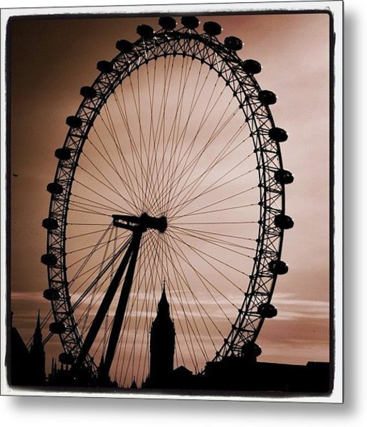 #london #londoneye #bigben Metal Print