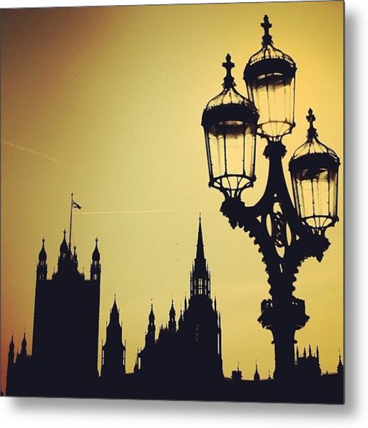 #london #westminster #londoneye #siluet Metal Print