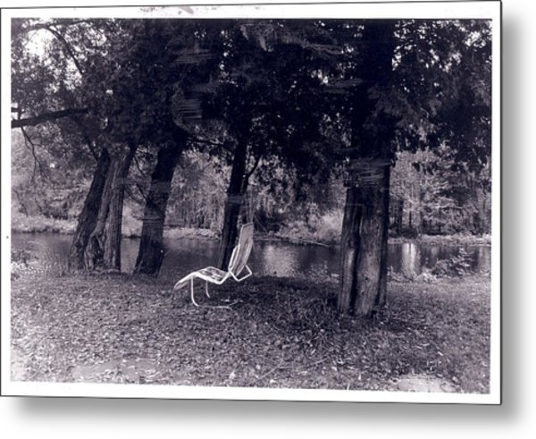 Lonely Chair Metal Print by Cecelia Taylor-Hunt