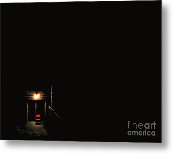 Lonely Red Chair Metal Print by Chris Traber