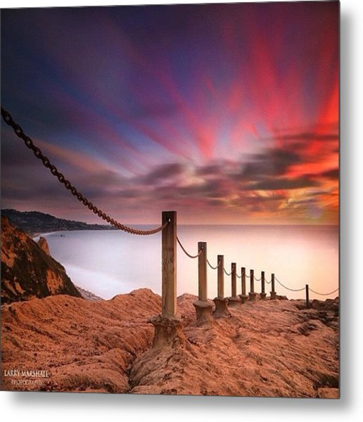 Long Exposure Sunset Shot From The Metal Print