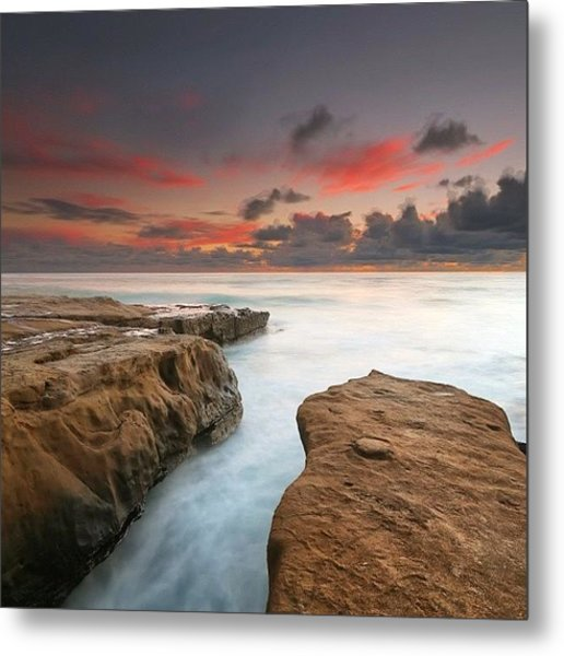 Long Exposure Sunset Taken Just After Metal Print by Larry Marshall