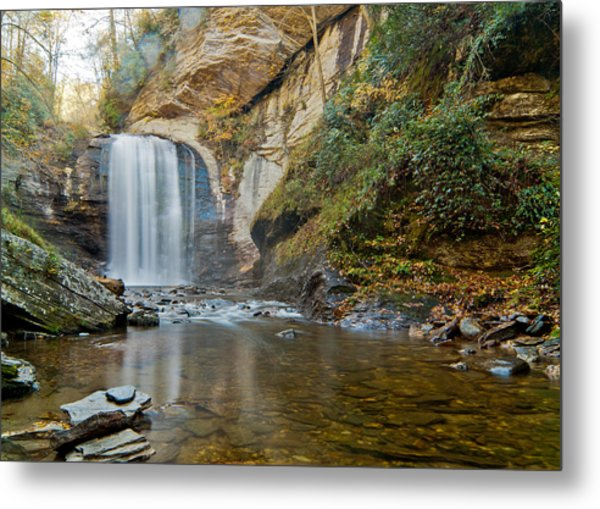 Metal Print featuring the photograph Looking Glass Falls by Francis Trudeau