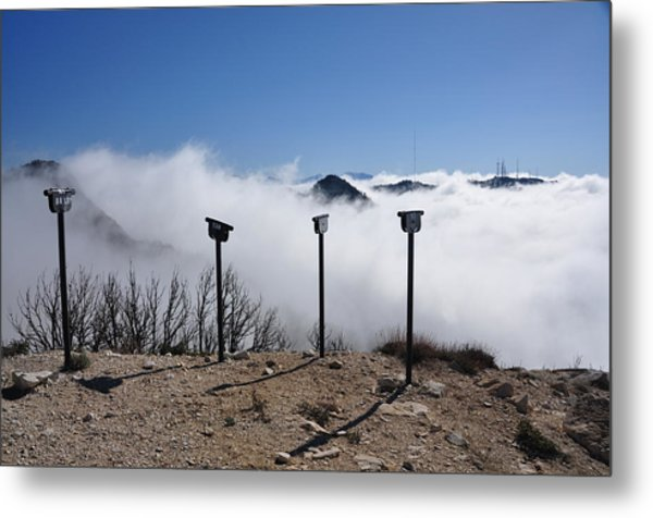 Looking Into The Clouds Metal Print