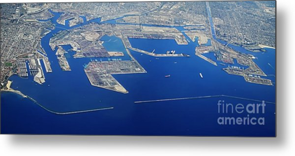 Los Angeles Seaport Panorama Metal Print