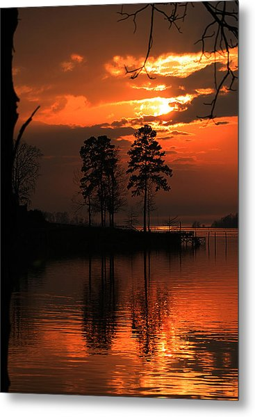 Lousiana Sunset Metal Print