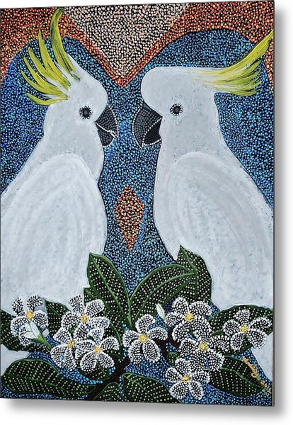 Love Of The Cockatoos Metal Print