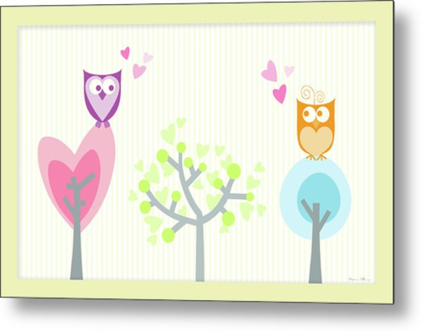Love Owls Metal Print by Nomi Elboim
