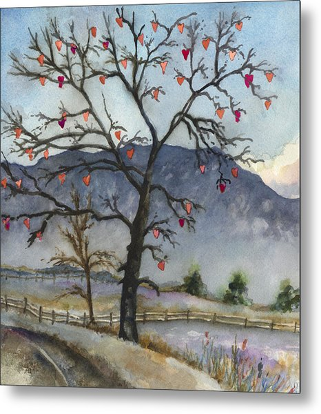 Love Warms Even The Coldest Day Metal Print