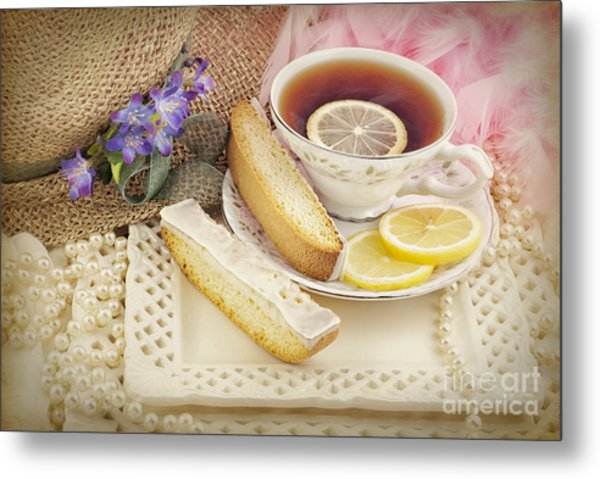 Lovely Tea Party Metal Print