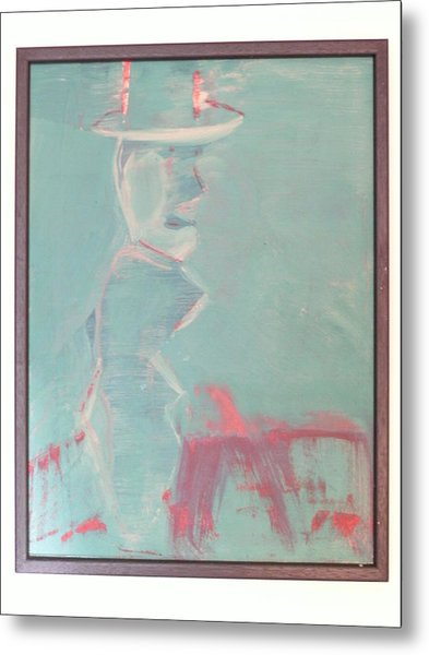 Lover With Hat On Fire  Metal Print by Harry  Nash