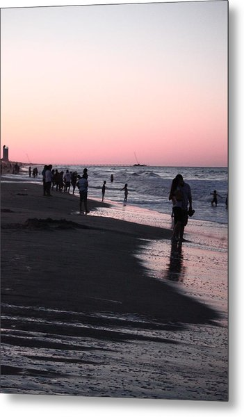 Lovers At Sunset Metal Print by Audra Crouch