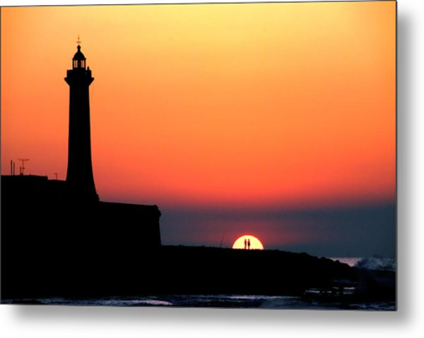 Lovers In The Sunset Metal Print