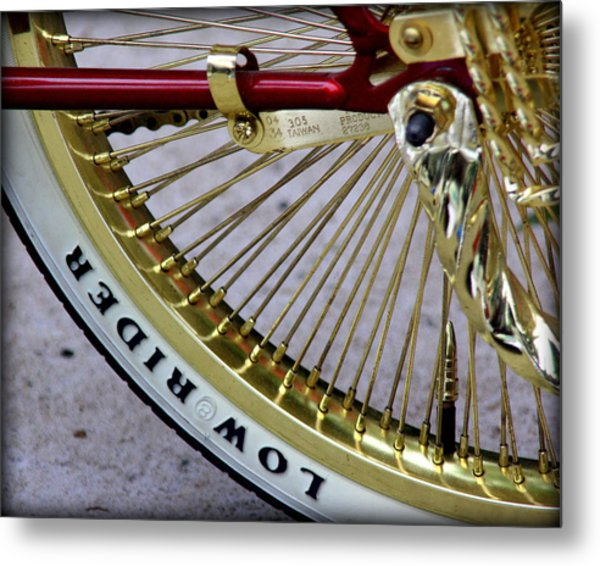 Low Rider In Maroon And Gold Metal Print by Tam Graff