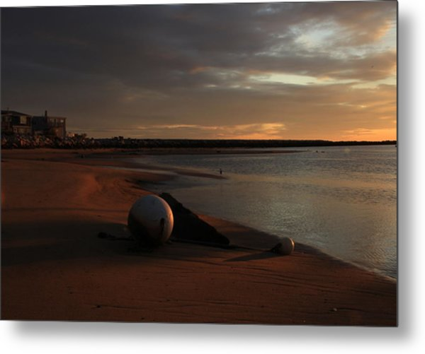 Low Tide At Dawn  Metal Print