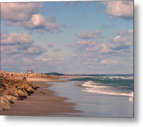 Low Tide Stroll Metal Print