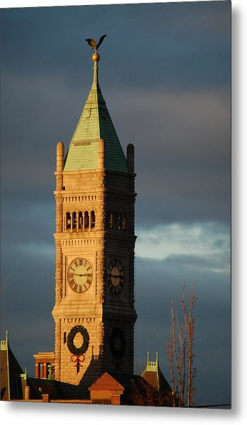 Lowell Clock Tower Metal Print