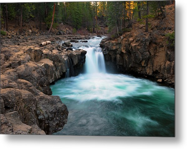 Lower Falls At Sunset Metal Print