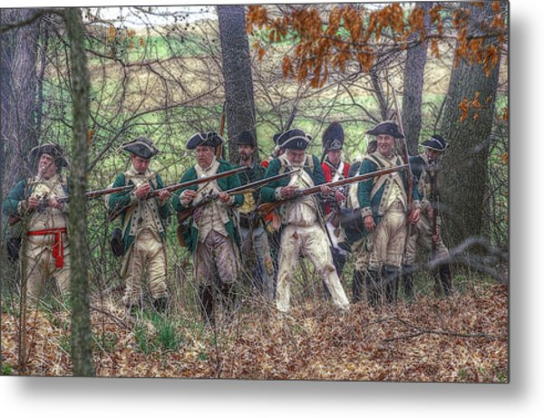Loyalist Skirmishers Revolutionary War   Metal Print by Randy Steele