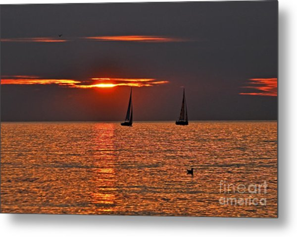 Red Maritime Dream Metal Print