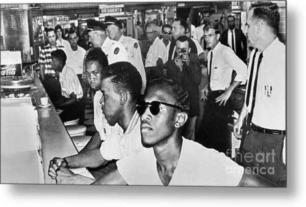 Lunch Counter Sit-in, 1961 Metal Print by Granger