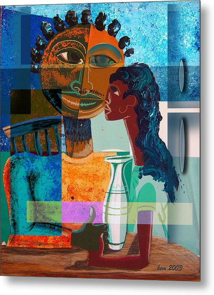 Lunch With Dad Metal Print by Kevin McDowell