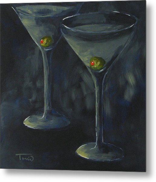Lurking Olives Metal Print