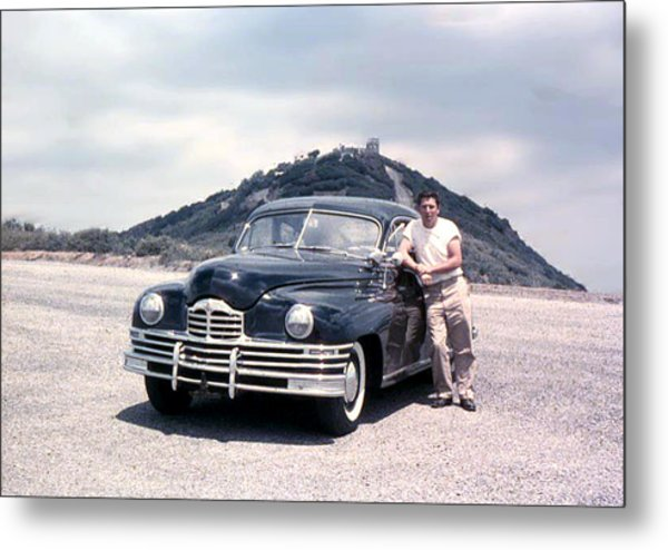 Lynn And His Packard Metal Print