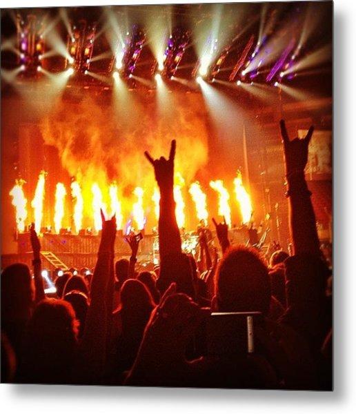 \m/ Rock Hands At Nickleback Concert Metal Print