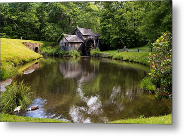 Mabry Mill And Pond Metal Print