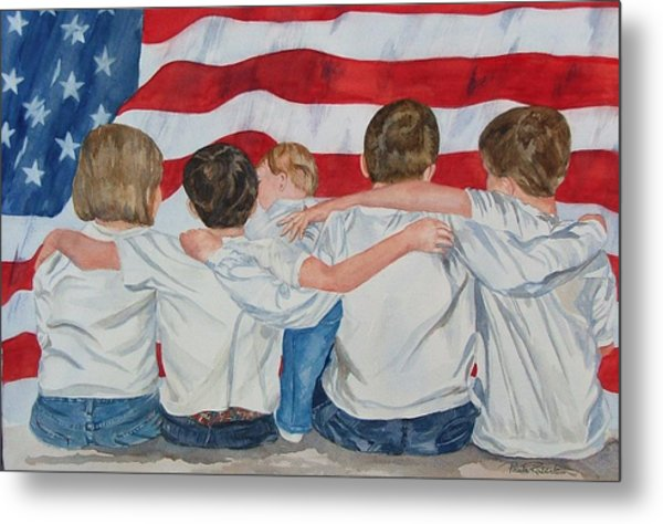 Metal Print featuring the painting Made In The Usa by Paula Robertson