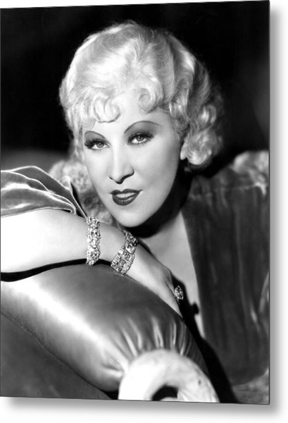 Mae West, Portrait Metal Print by Everett