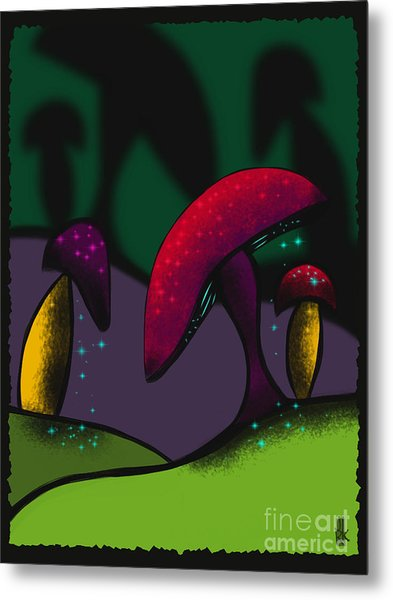 Magical Mushrooms Metal Print