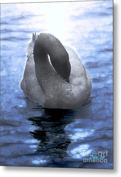 Magical Swan Metal Print